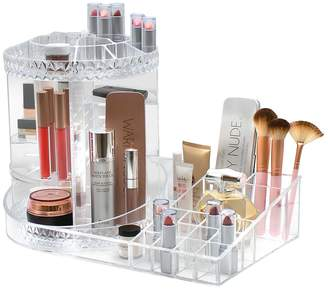 clear Sorbus Turnable Cosmetic Organizer