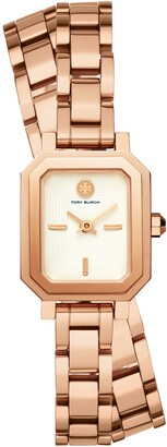 Tory Burch ROBINSON MINI WATCH, ROSE GOLD-TONE /IVORY, 22 MM