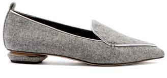 Nicholas Kirkwood Beya Felt Loafers - Womens - Grey