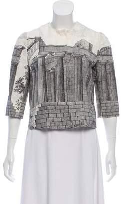 Dolce & Gabbana Parthenon Print Cropped Jacket