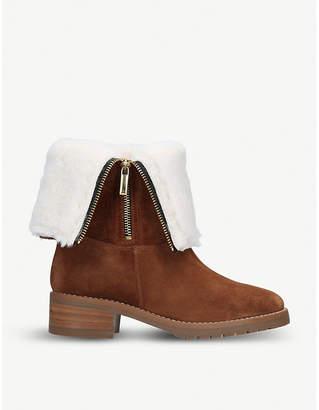 Carvela Snug fold-down suede ankle boots