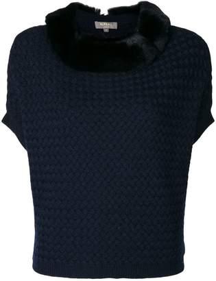 N.Peal cashmere basketweave poncho