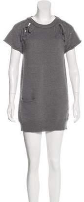 3.1 Phillip Lim Wool Knit Short Sleeve Mini Dress
