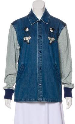 Opening Ceremony Embroidered Denim Jacket