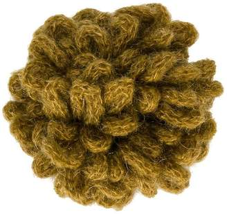 Caffe Caffe' D'orzo looped knit brooch