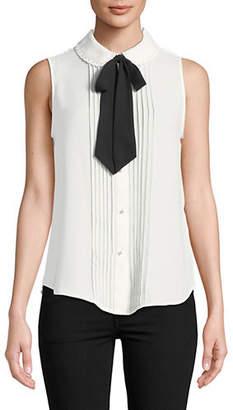 Karl Lagerfeld PARIS Embellished Button-Down Shirt