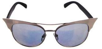 Quay Zig Mirrored Sunglasses