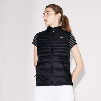 Lacoste Women's SPORT Water-Resistant Quilted Technical Golf Vest