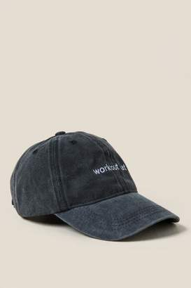 francesca's Workout Baseball Cap - Black