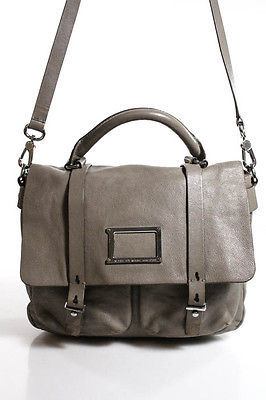 Marc By Marc Jacobs Marc By Marc Jacobs Gray Leather Medium Satchel Handbag