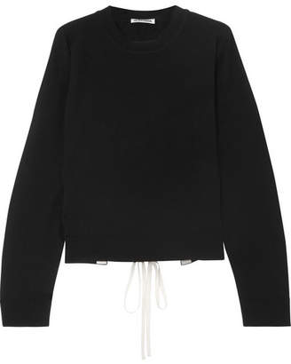 Jil Sander Open Back Lace-up Cashmere Sweater - Black