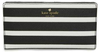 Women's Kate Spade New York Hyde Lane - Stacy Stripe Wallet - Black