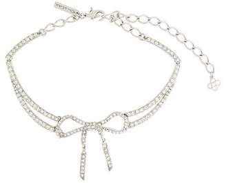 Oscar de la Renta bow encrusted necklace