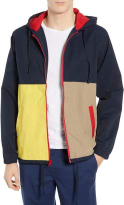 RVCA Bloc Colorblock Hooded Cotton Blend Jacket
