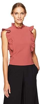 Rebecca Taylor Women's Sleeveless Ruffle Suit Top
