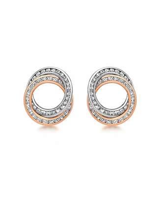 Fashion World 9Ct Gold CZ Rings Stud Earrings