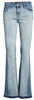 KUT from the Kloth Baby Bootcut Contrast Release Hem Jeans