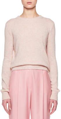The Row Minco Crewneck Long-Sleeve Cashmere-Silk Top