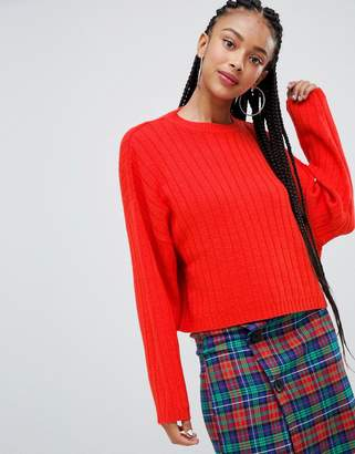 Bershka wide jumper knitted jumper