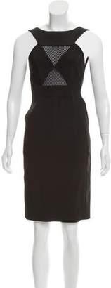 Gucci Mesh-Trimmed Sleeveless Dress