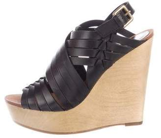 Ash Woven Leather Slinback Wedges w/ Tags