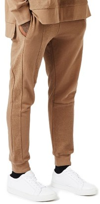 Men's Topman Aaa Collection Paneled Slim Fit Jogger Pants $75 thestylecure.com