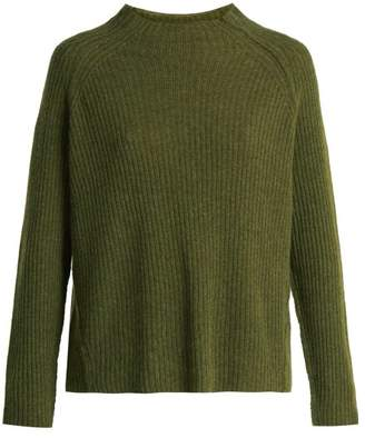 Nili Lotan Rylan Cashmere Ribbed Knit Sweater - Womens - Khaki