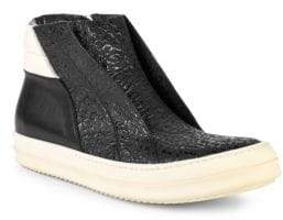 Rick Owens High-Top Leather Platform Sneakers