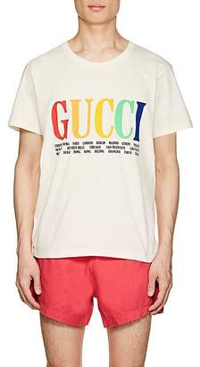 Gucci Men's City- & Logo-Print Cotton Short-Sleeve T-Shirt - White