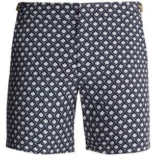 Orlebar Brown Bulldog Jacquard Swim Shorts - Mens - Blue Multi