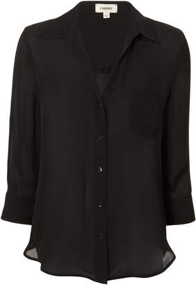 L'Agence Ryan Black Silk Blouse
