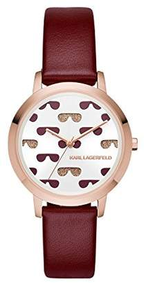 Karl Lagerfeld Women's Camille Quartz Stainless Steel and Leather Watch