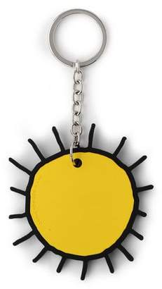 Christopher Kane Silver-Tone And Silicon Keychain