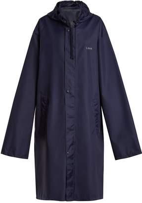 Vetements Horoscope Libra hooded raincoat