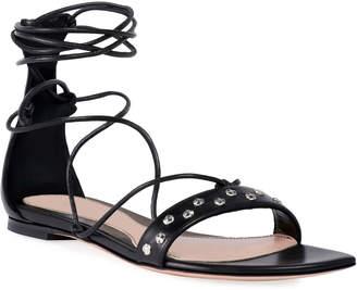 Alexander McQueen Lace-Up Tie Flat Sandals