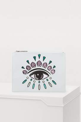 Kenzo Eye leather A4 clutch