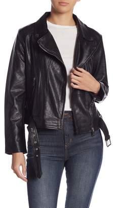 Elodie Faux Leather Moto Jacket