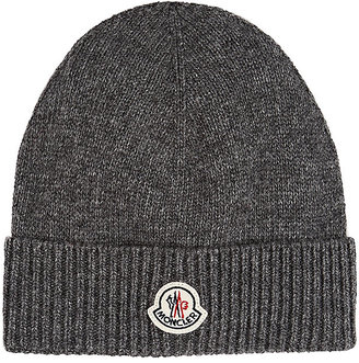 Moncler Men's Stockinette-Stitched Virgin Wool Beanie $200 thestylecure.com