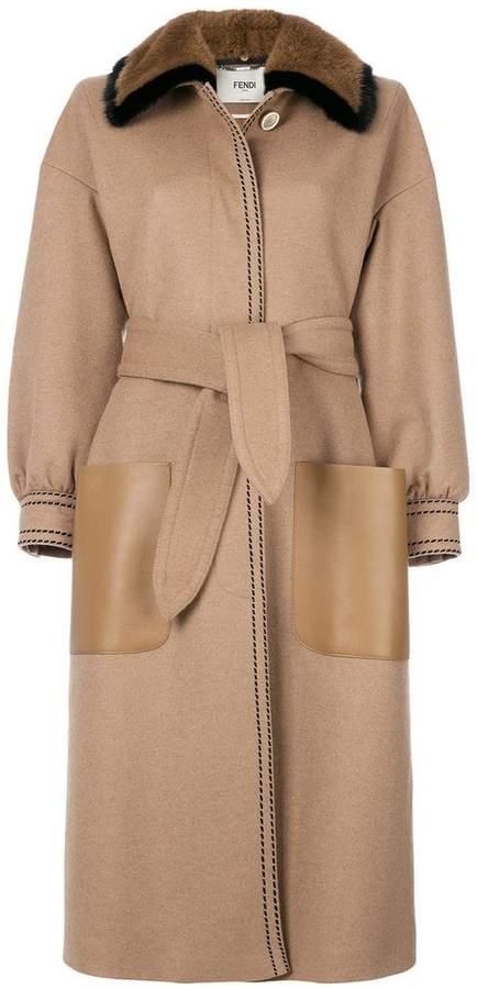 Fendi belted coat