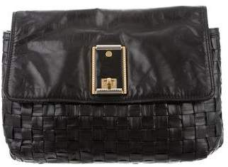 Marc Jacobs Woven Leather Flap Clutch