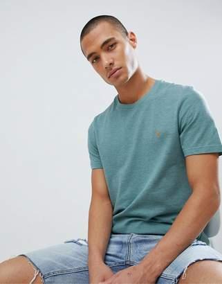 Farah Rockdove Slim Fit Pique T-Shirt in Green