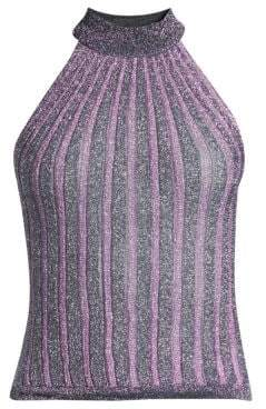 Missoni Operato Lame Halter Tank Top