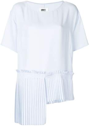 MM6 MAISON MARGIELA pleated hem blouse
