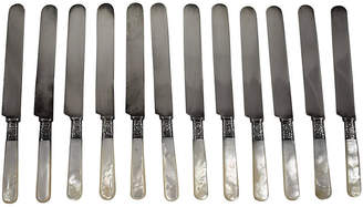 One Kings Lane Vintage Aetna Pearl & Sterling Place Knives Set of 12