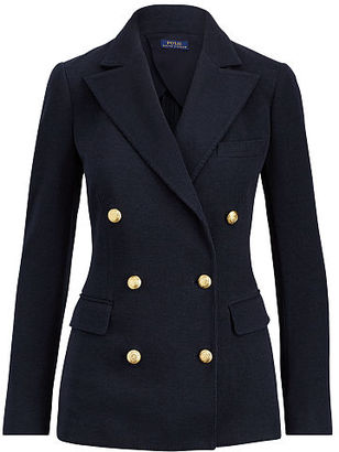 Polo Ralph Lauren Knit Double-Breasted Blazer $298 thestylecure.com