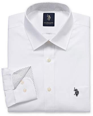 U.S. Polo Assn. USPA Uspa Dress Shirt Long Sleeve Broadcloth Dress Shirt - Slim
