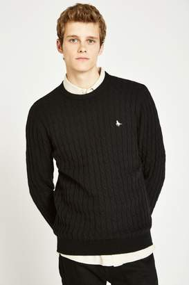 Jack Wills Marlow Wool Blend Cable Knit Crew Jumper