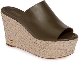MICHAEL Michael Kors Cunningham Espadrille Wedge Slide Sandal