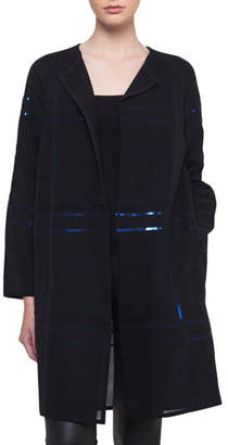 Akris Foil Sequin-Embellished Voile Coat