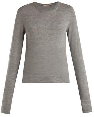 Summa - Round Neck Cashmere Sweater - Womens - Grey